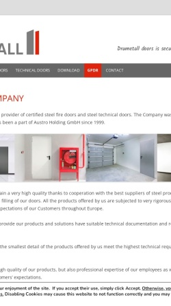 Vorschau der mobilen Webseite drumetall.com, DRUmetall