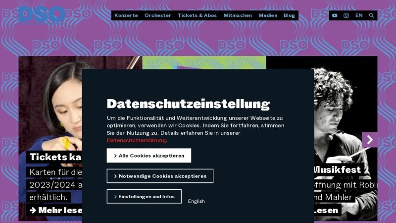 dso-berlin.de Vorschau, Deutsches Symphonie-Orchester Berlin