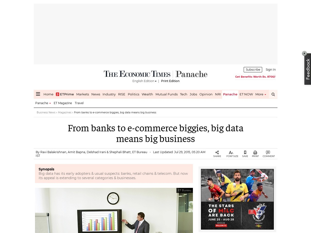 From banks to e-commerce biggies, big data means big business