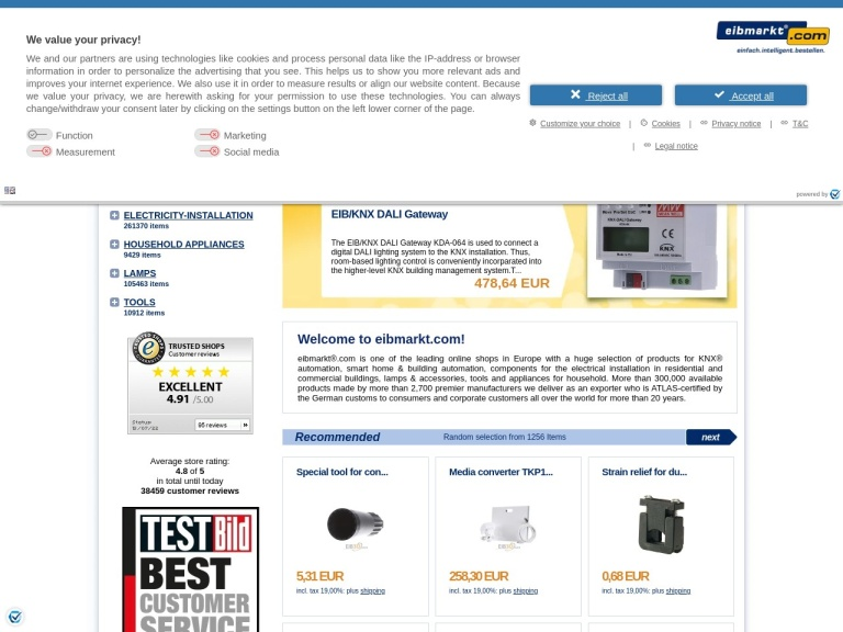 Eibmarkt.com screenshot
