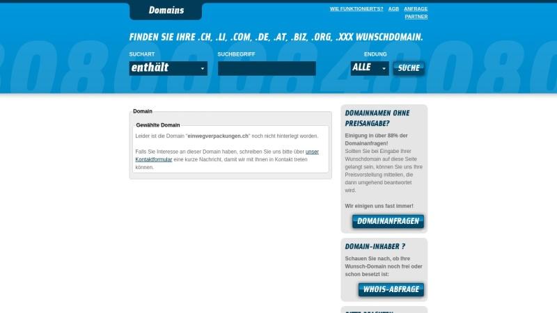 einwegverpackungen.ch Vorschau, Swissbox AG