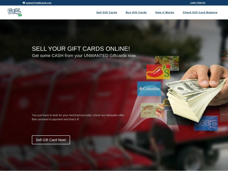 EJ Gift Cards Coupon Codes & Promo codes