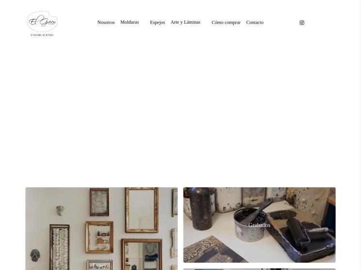 Tienda Online de El Greco, taller de marcos en Las Condes, Santiago de Chile