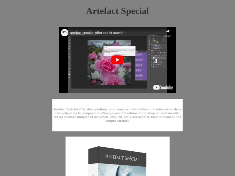 artefact special  action photoshop