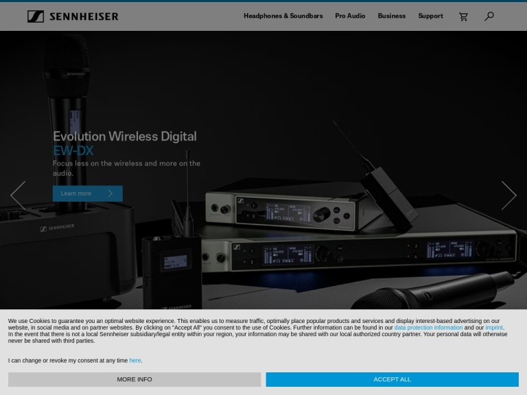 Sennheiser screenshot