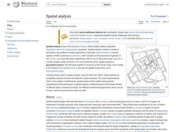 http://en.wikipedia.org/wiki/spatial_analysis