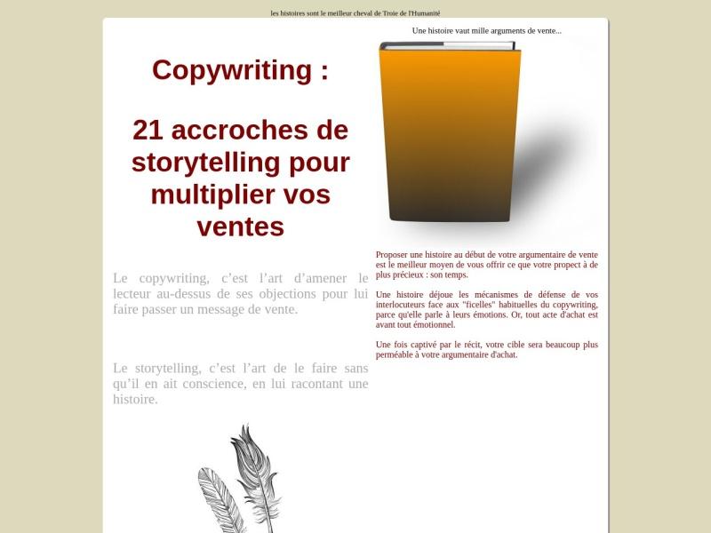 copywriting  21 accroches de storytelling