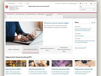 estv.admin.ch screenshot