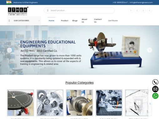 Producing & selling equipment that is used in technical education