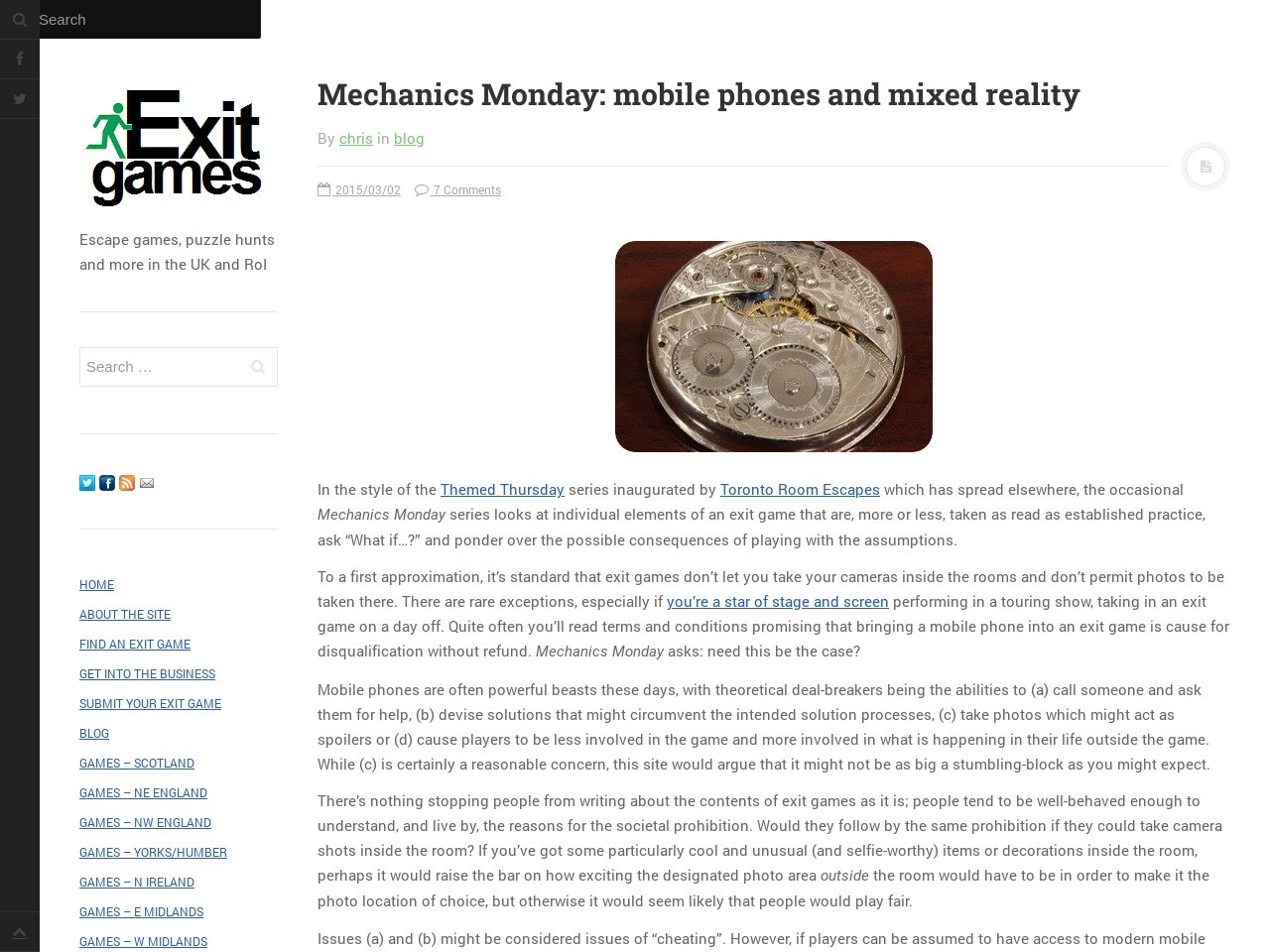 Mechanics Monday: mobile phones and mixed reality | Exit …