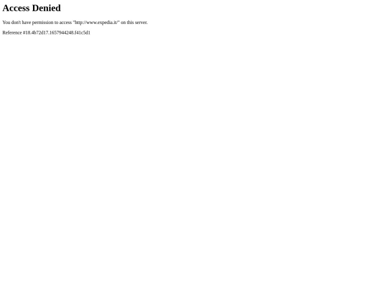 Codice sconto Expedia screenshot