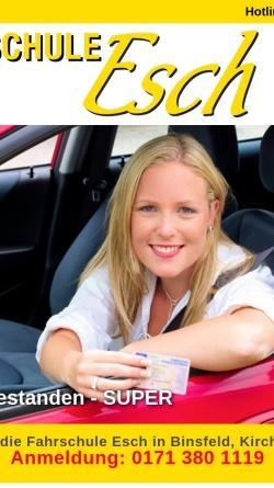 Vorschau der mobilen Webseite fahrschule-esch.de, Fahrschule Esch