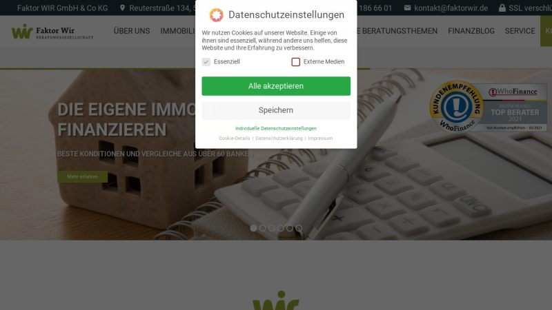 faktorwir.com Vorschau, Faktor Wir Beratungsgesellschaft