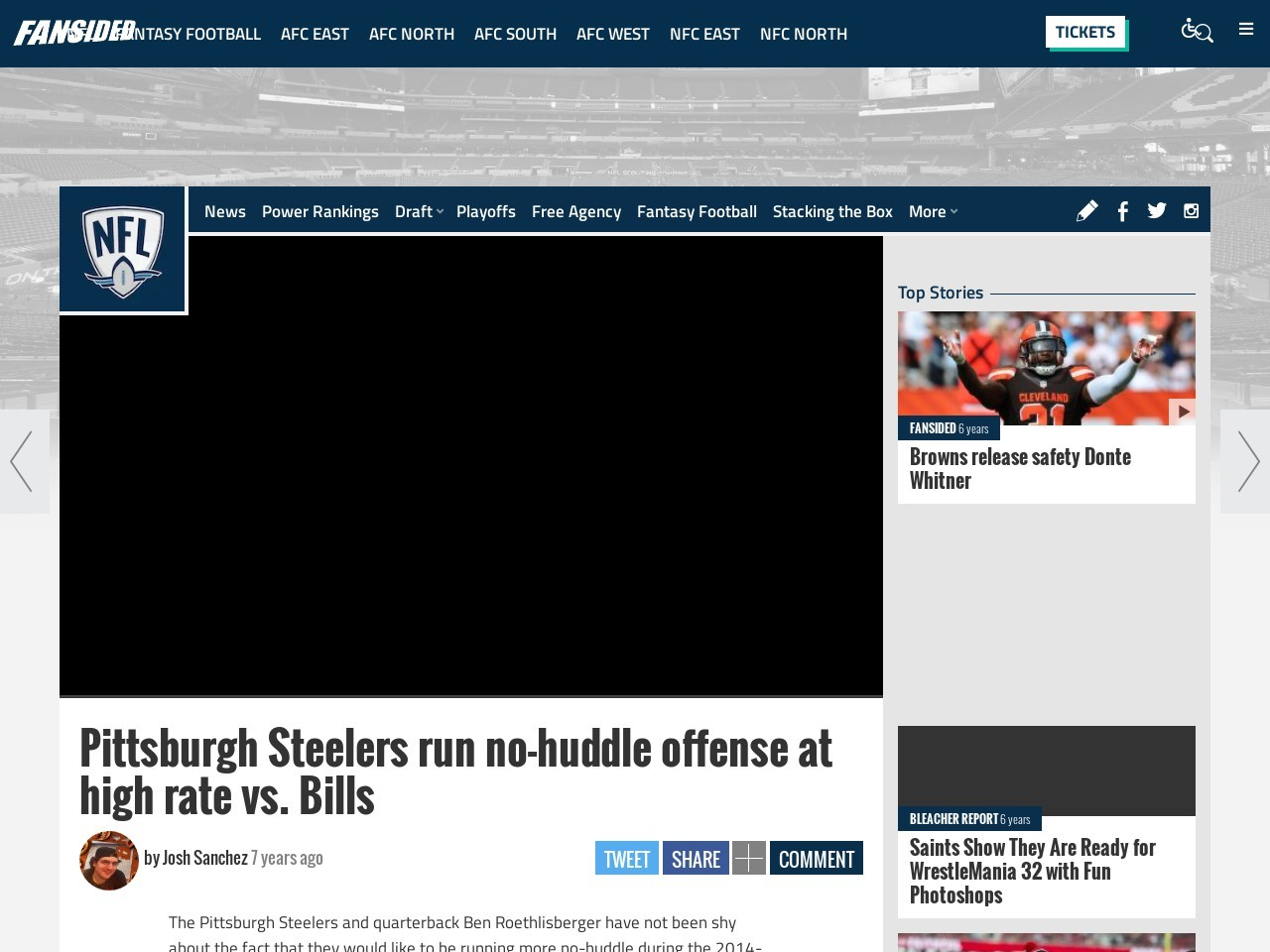 Pittsburgh Steelers run no-huddle offense at high rate vs. Bills