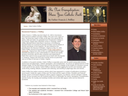 Reverend Francis J. Peffley – Author of Inside the Catholic Family: Reflections of a Parish Priest