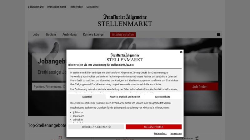 fazjob.net Vorschau, Frankurter Allgemeine Zeitung