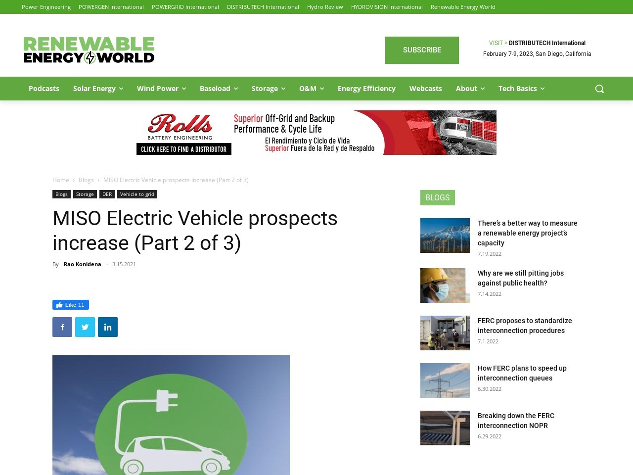 MISO Electric Vehicle prospects increase (Part 2 of 3)