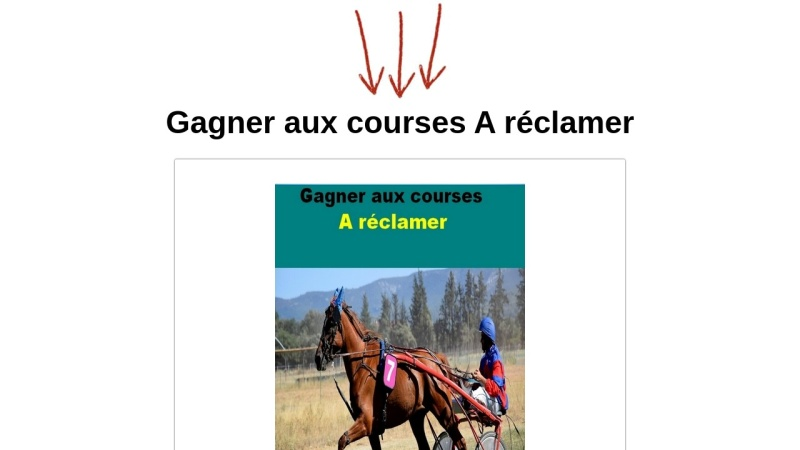 gagner aux courses a reclamer