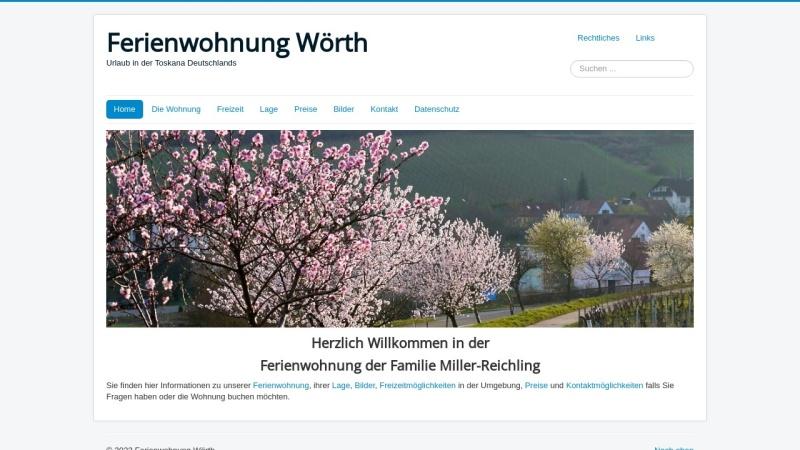 ferienwohnung-woerth.de Vorschau, Ferienwohnung Miller-Reichling