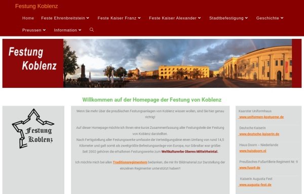 Vorschau von festung-koblenz.de, Festung Koblenz
