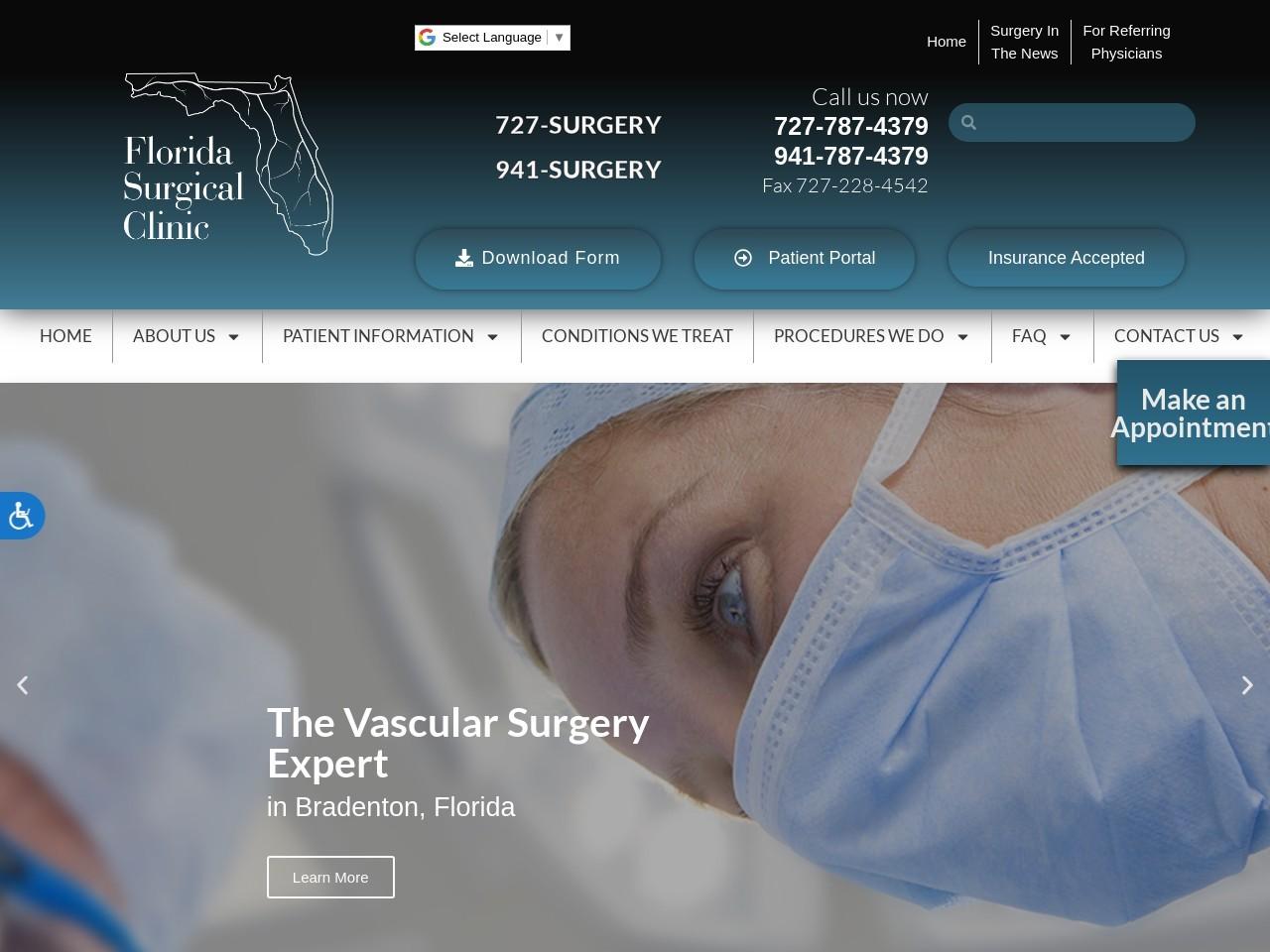 floridasurgicalclinic.com screenshot