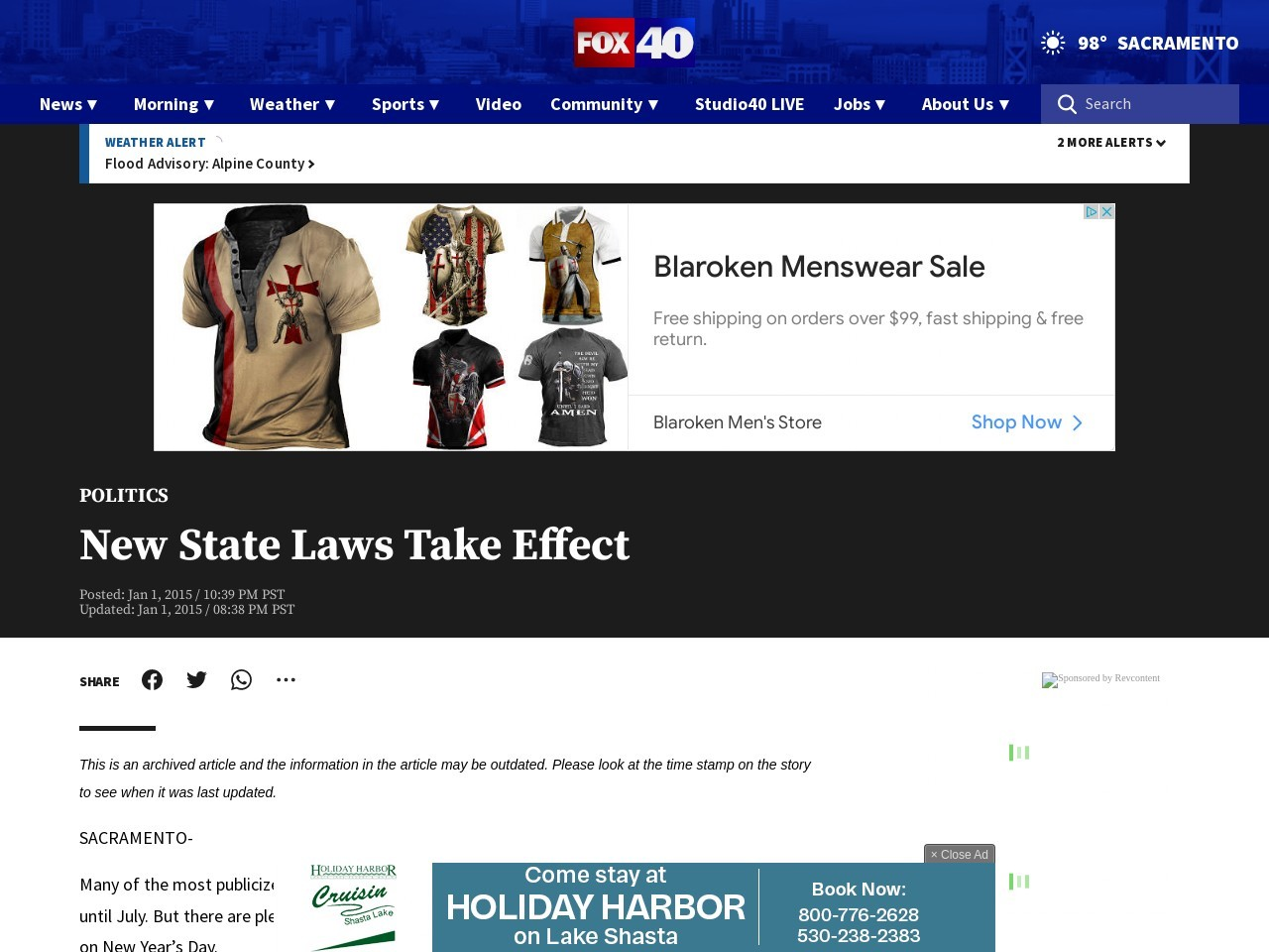 New State Laws Take Effect