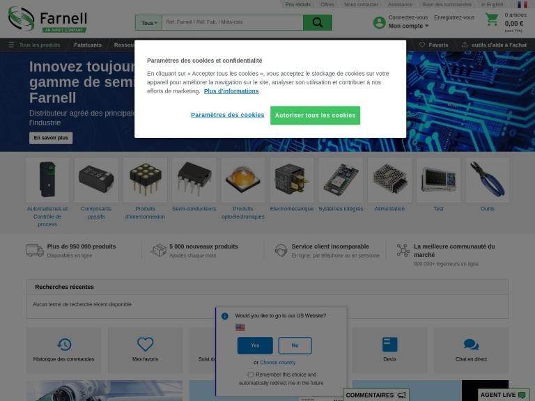 Farnell France screenshot
