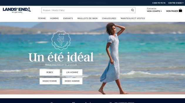 Code reduction Lands'End 10€ de rabais + la Livraison gratuite