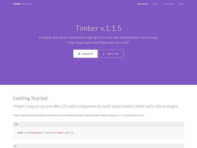 Theme Mountain | Timber Framework