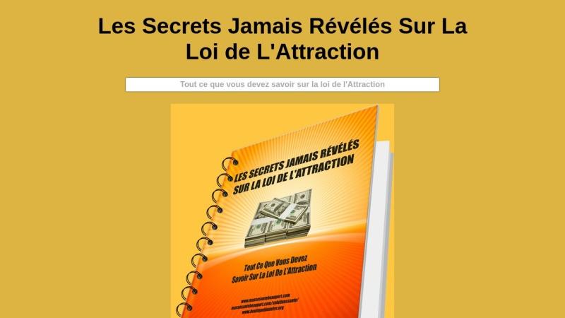 secrets jamais reveles sur la loi de l'attraction