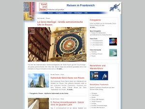 Reisen in Städte und Regionen quer durch Frankreich