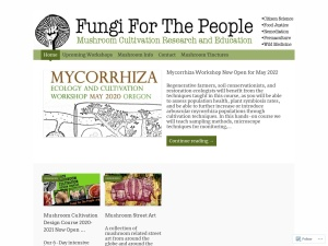 FUNGI FOR THE PEOPLE using the Expound WordPress Theme