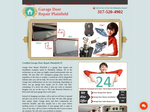 Garage Door Repair Plainfield IN