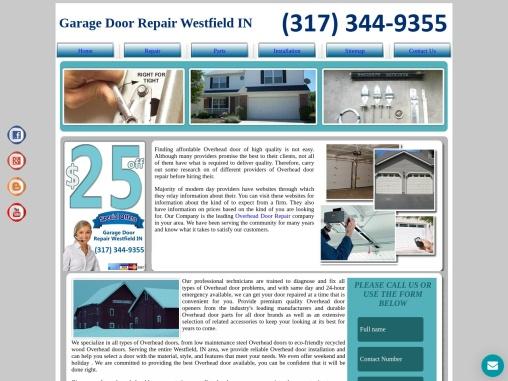 Garage Door Repair Westfield IN