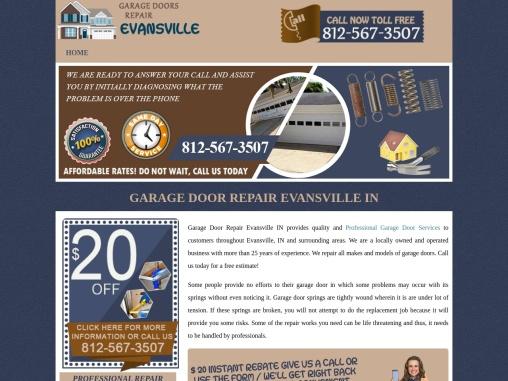 Garage Door Repair Evansville IN