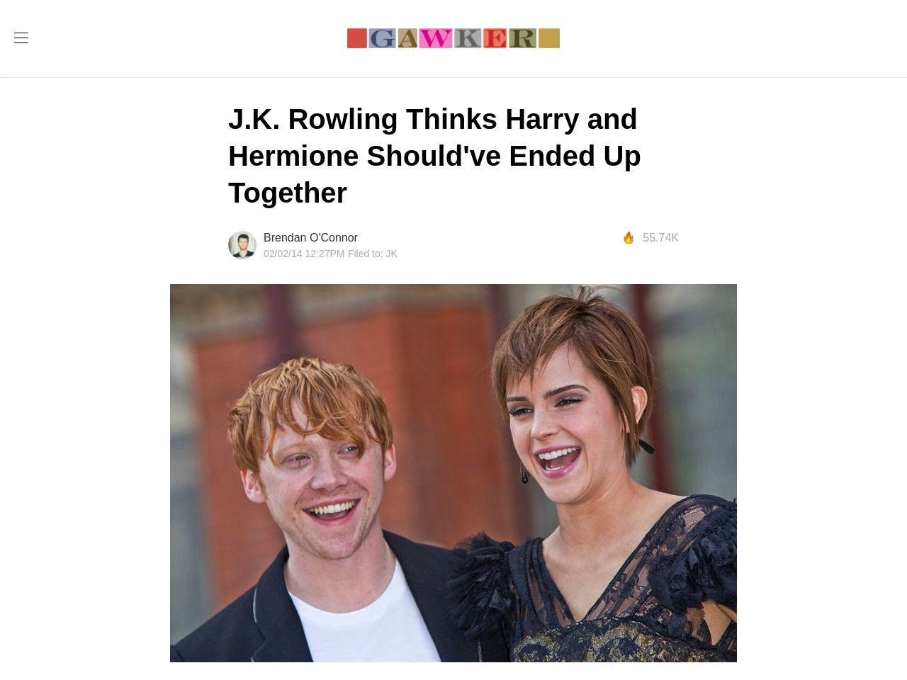 J.K. Rowling Thinks Harry and Hermione Should've Ended Up …