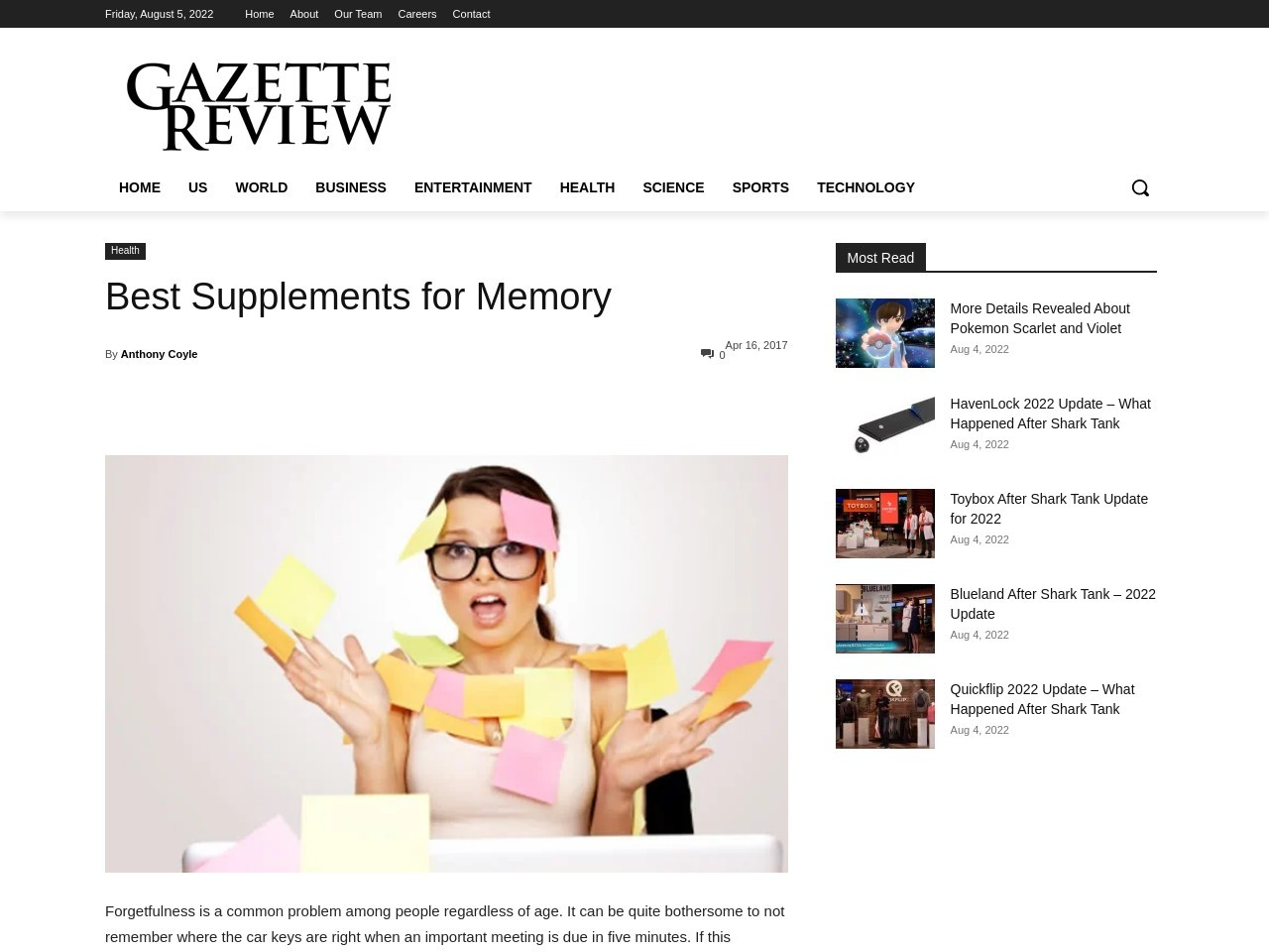 Best Supplements for Memory