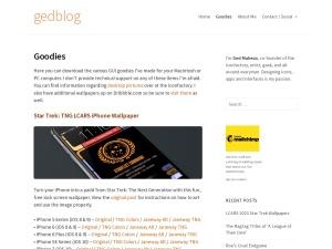 gedblogのスクリーンショット