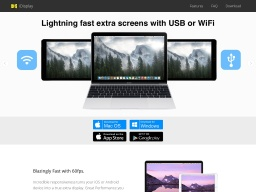 iDisplay: Turn your iPhone, iPad, iPad Mini  or Android into external monitor for your Mac or Windows PC