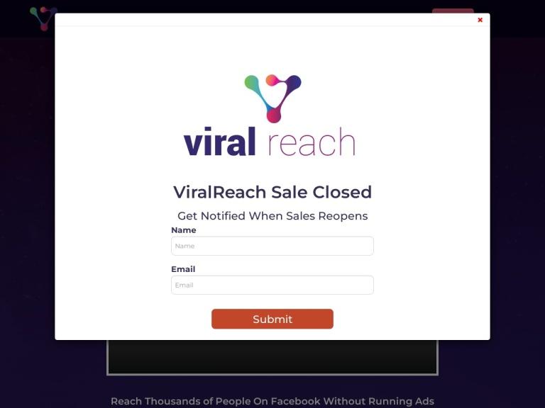 Viral Reach Elite Coupons and Discounts January 2021 screenshot