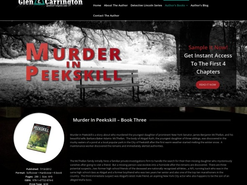 Murder In Peekskill by Glen Carrington