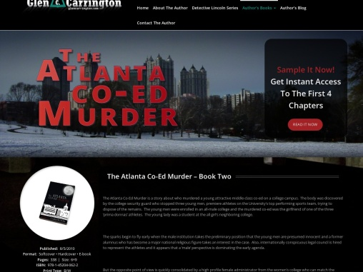 The Atlanta Co-Ed Murder – Book Two by Glen Carrington