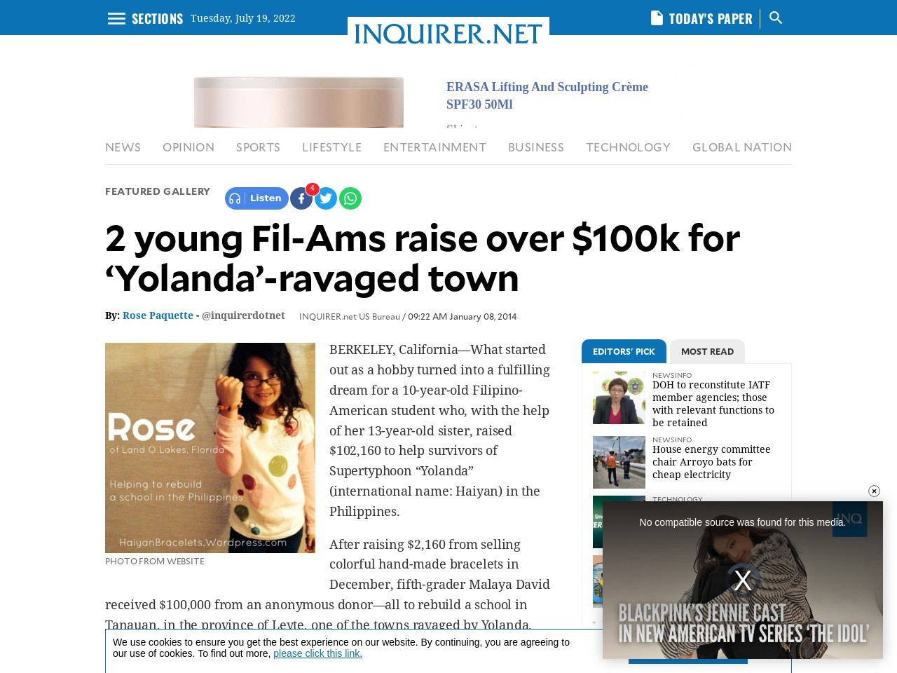 2 young Fil-Am sisters raise more than $100k for 'Yolanda'-ravaged Tanauan
