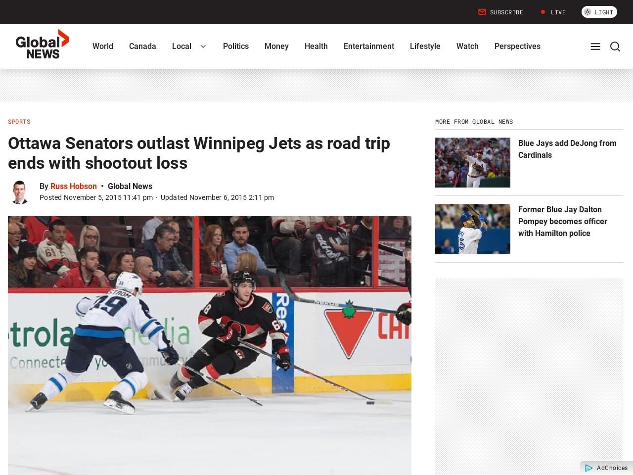Ottawa Senators outlast Winnipeg Jets as road trip ends …