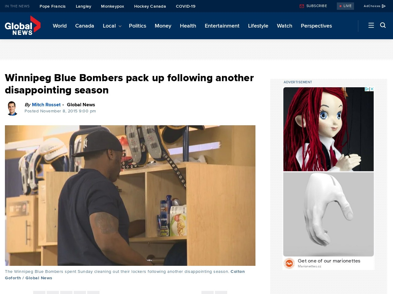 Winnipeg Blue Bombers pack up following another …