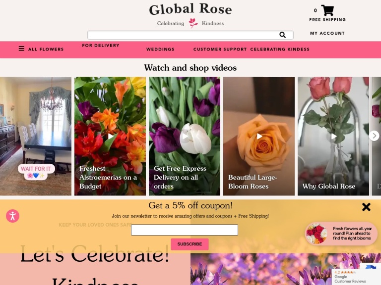 Globalrose screenshot