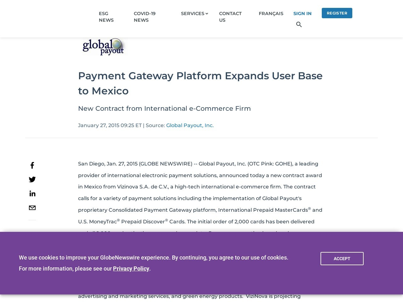 Payment Gateway Platform Expands User Base to Mexico