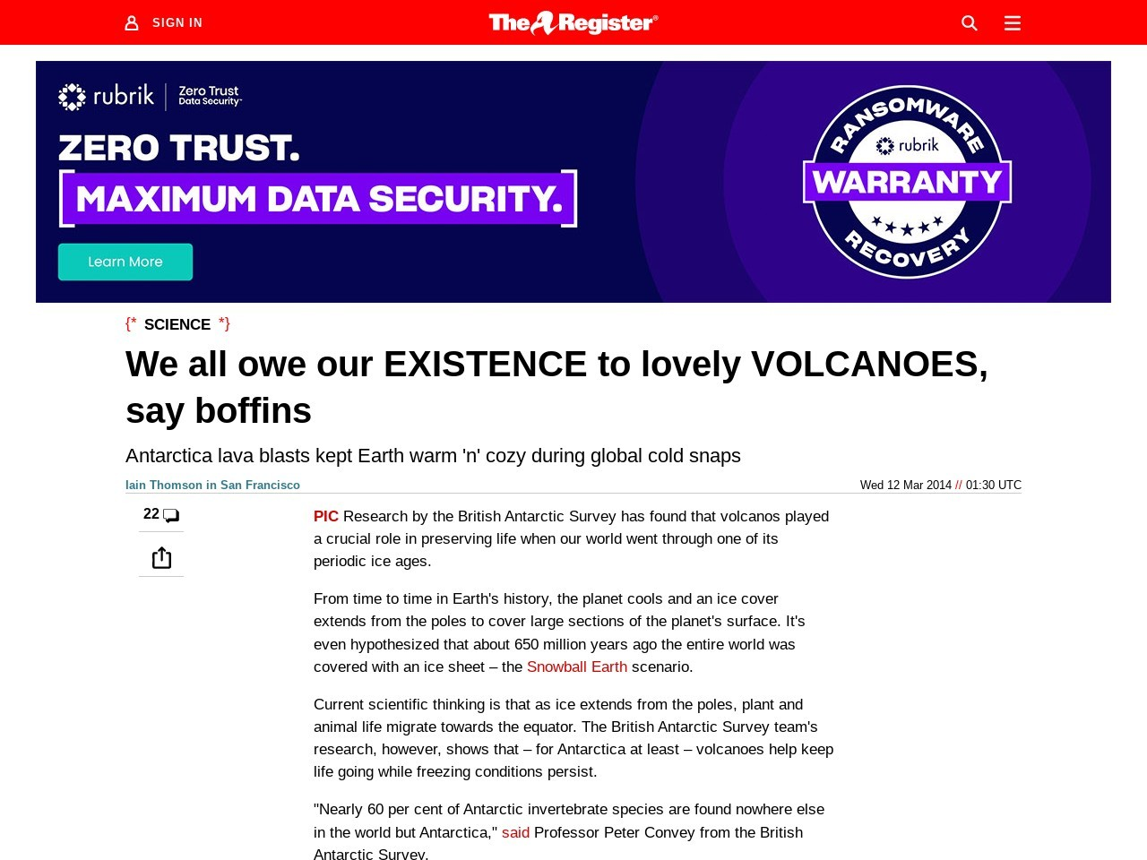 We all owe our EXISTENCE to lovely VOLCANOES, say boffins
