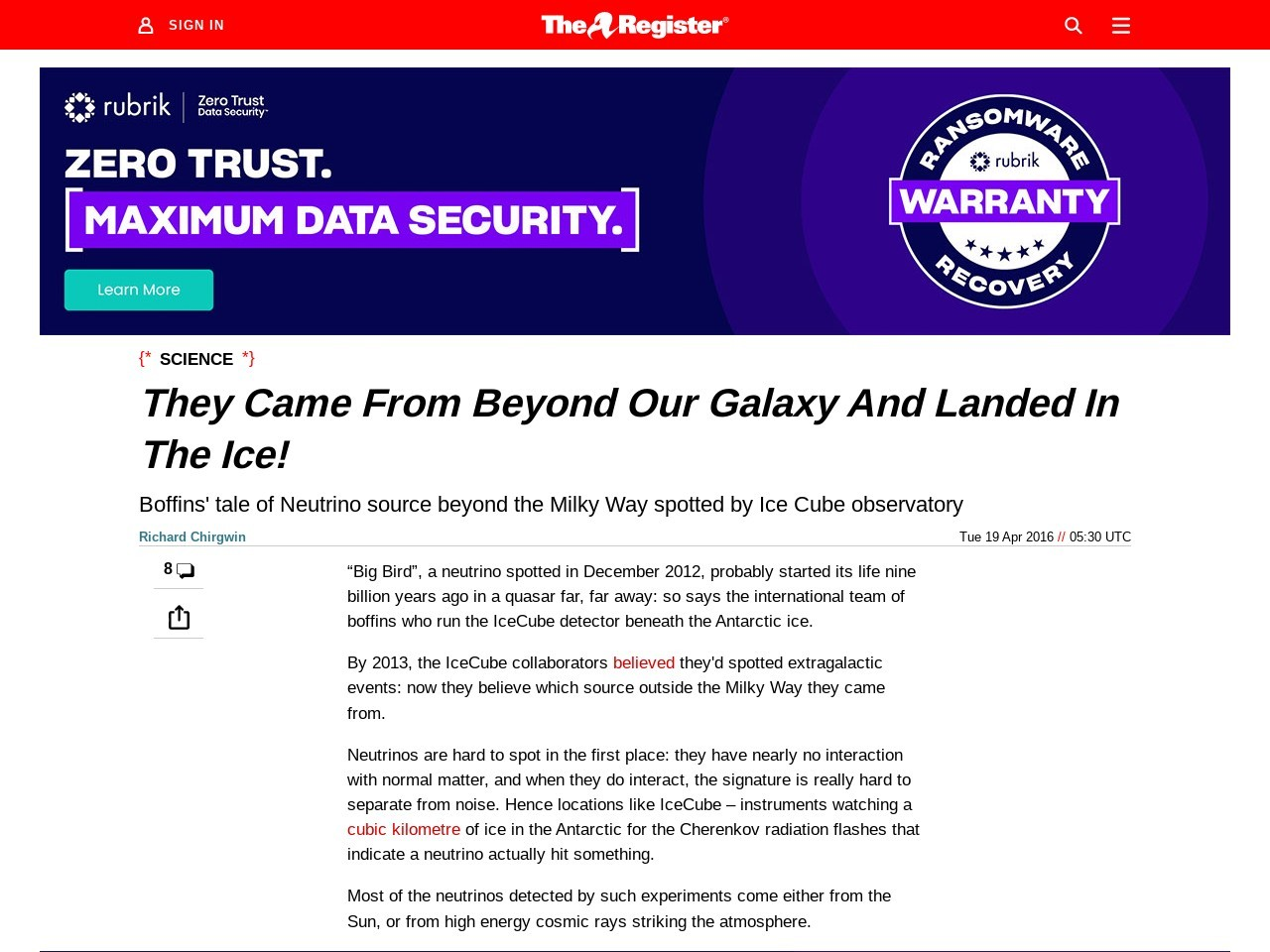 <i>They Came From Beyond Our Galaxy And Landed In The Ice!</i>