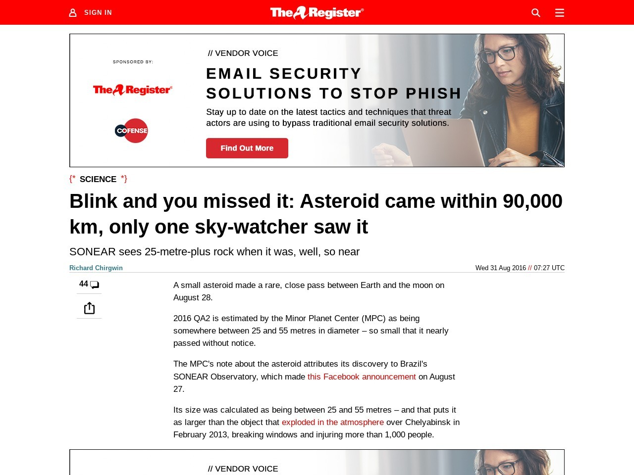 Blink and you missed it: Asteroid came within 90,000 km, only one sky-watcher saw it